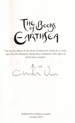THE BOOKS OF EARTHSEA. Illustrated by Charles Vess. Deluxe Leather Edition, Copy No. 8 of 30.