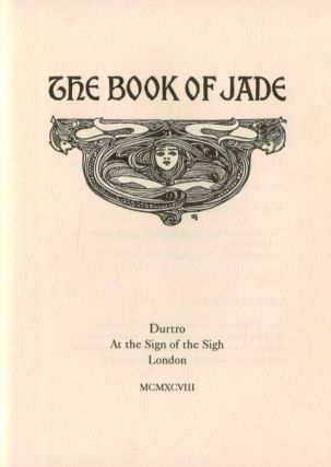 THE BOOK OF JADE. Deluxe Edition.