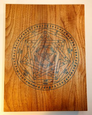 THE VISION AND THE VOICE [along with] A BRIEF ABSTRACT OF THE SYMBOLIC REPRESENTATION OF THE UNIVERSE Derived by Doctor John Dee Through the Skrying of Sir Edward Kelly. DELUXE EDITION IN WOODEN BOX.