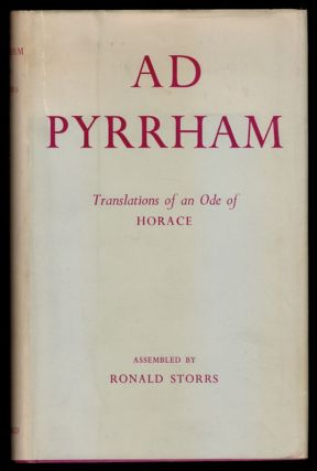 AD PYRRHAM. A Polyglot Collection of Translations of Horace's Ode to Pyrrha (Book 1, Ode 5)...