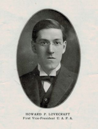 THE FIRST PUBLISHED PHOTOGRAPH OF H.P. LOVECRAFT [in] THE UNITED AMATEUR; Official Organ of the United Amateur Press Association, Volume XV, Number 2, September, 1915.
