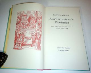 ALICE'S ADVENTURES IN WONDERLAND [along with] THROUGH THE LOOKING-GLASS AND WHAT ALICE FOUND THERE. With [42] + [50] Illustrations by John Tenniel.