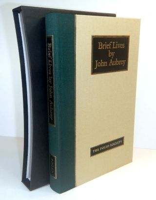 BRIEF LIVES. A SELECTION BASED ON CONTEMPORARY PORTRAITS. Edited by Richard Barber. John AUBREY