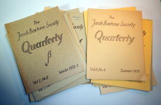 THE JACOB BOEHME SOCIETY QUARTERLY. 16 issues (of 19). Charles A. MUSES, Jacob BOEHME, Böhme