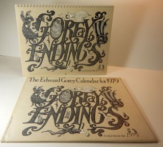 THE EDWARD GOREY CALENDAR FOR 1979. GOREY ENDINGS. A Calendar for 1979. Edward GOREY