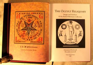THE OCCULT RELIQUARY. Images and Artifacts of the Richel-Edlermans Collection. Special Edition in Full Scarlet Goatskin Leather, limited to 100 hand-numbered copies.