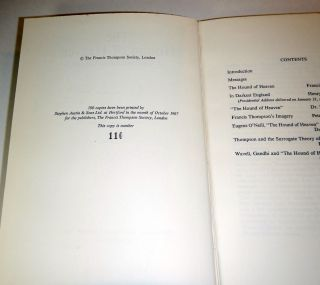 THE HOUND OF HEAVEN. A Commemorative Volume. Edited and Introduced by G. Krishnamurti. SIGNED BY HENRY WILLIAMSON AND G. KRISHNAMURTI.