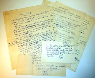 MACHEN AND MYSELF, by E.H. Visiak. The Original Manuscript and Revised Typescript, Signed, with...