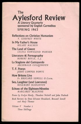 THE AYLESFORD REVIEW. Volume V, Number 2, Spring 1963. Arthur MACHEN, About