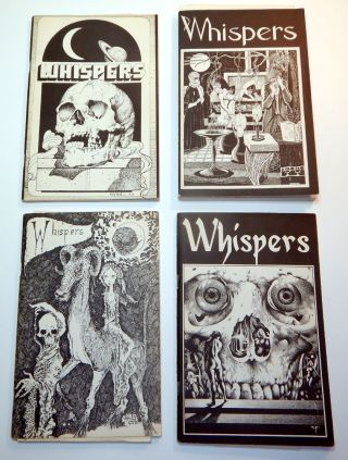 WHISPERS Magazine. Vol 1, No 1 - Vol 6, No 3-4, Together with the Scarce Final Issue (WEIRDBOOK 30 Combined with WHISPERS). Altogether 17 Issues, A COMPLETE SET.