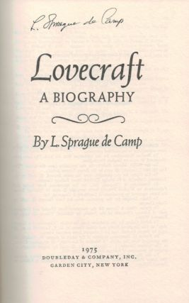 LOVECRAFT. A Biography. SIGNED.