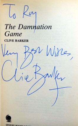 THE DAMNATION GAME. Inscribed by the Author.