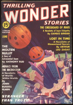 THRILLING WONDER STORIES magazine, Vol 9, No 3, June, 1937 issue. Vol 9 THRILLING WONDER STORIES...